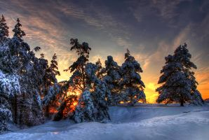 snow and fire II by stg123