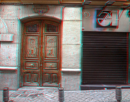Barbieri Portal (and Studio 54) Madrid (Spain) 3D by nadamas