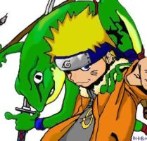 Naruto with Frog by rolobio