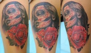 Alluring Day of the Dead Girl by Dripe
