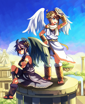 Pit and Dark Pit 2 by Wusagi2