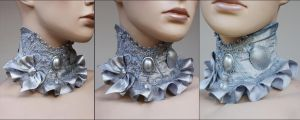 Cute Gothic Lolita collar by Pinkabsinthe