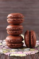 Chocolate french macarons by kupenska