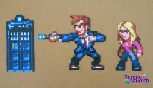 Doctor Who Bead Sprite Set 1 by SerenaAzureth