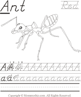 Mommysbiz | A-Ant-Red  Preschool Worksheet by DanaHaynes