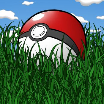 Pokeball in a Field by ThePowerPlayer