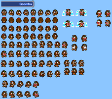 Tony Goomba Sprite Sheet by UltimateSaiyanEddy