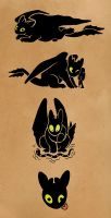 HTTYD - Toothless Galore by Malliya