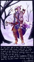 Connar Kenway: words of wisdom by Nekoshiba
