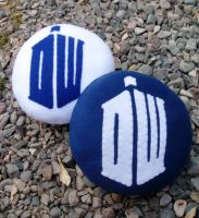 Dr. Who Pillow Round by P-isfor-Plushes