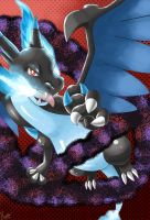 Request: Mega Charizard X's Dragon Dance by ECrystalica