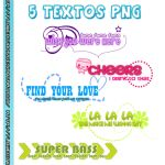 Pack 5 Textos Png by FlowEditions