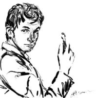 Tenth Doctor ink sketch by TrillianAstra