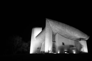 la Chapelle de Ronchamp by night by shot-up