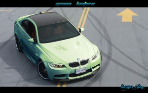 "BMW M3 E92 ""GREEN LANTERN"" by GraphXtravaganza"