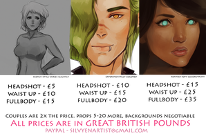 Commission prices ( spring sale ) by Silvyen