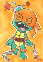 TMNT Baby Mikey Art Card by kevinbolk
