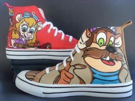 Chip N Dale Rescue Rangers Custom Shoes by rachelliles352