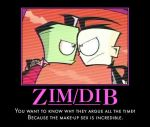 Zim and Dib by Sweet--Tooth