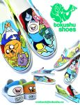 Adventure Time Shoes! by artsyfartsyness