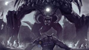 Roshan Vs Ursa (dota fan art) by negorobson