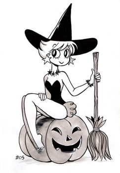Witch pinup by vern-argh