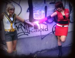 Vocaloid - Rin and Meiko by Lexine90