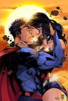 Superman_Wonderwoman Colors by MARCIOABREU7
