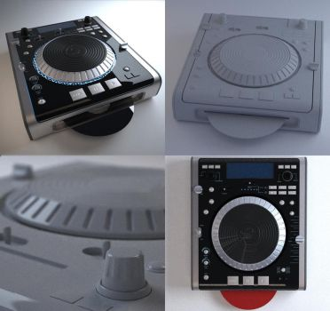SpeedModel scratch cd player by PositiveDope