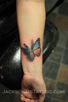 Realistic Butterfly Tattoo 3d by jacksonmstattoo
