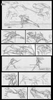 Ninja Girl comic page 1 by JosephB222