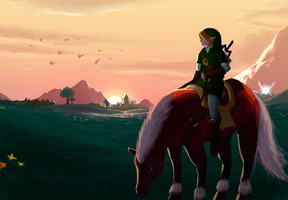 Hyrule Field by plastic-brain