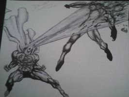 superman vs cyclops by artkid01