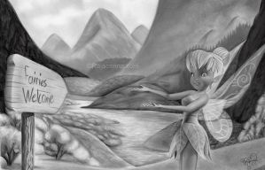 Tinkerbell in fairyland by Rajacenna