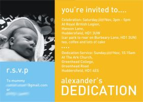 Alexander's Dedication Invitation by qwertyDesign