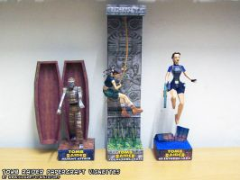 Tomb Raider papercraft vignettes 2013 by ninjatoespapercraft