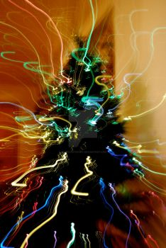 Abstract Christmas Tree by loveliveforart