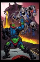 Trapjaw vs Panthro by spidermanfan2099