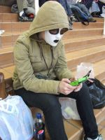 I-CON 30 Masky Plays Gameboy by IoniaFreak