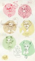 Trolls expressions PART 1 by LadyBrot