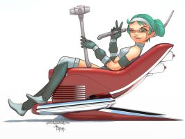 270710 - bluehair on the chair by 600v