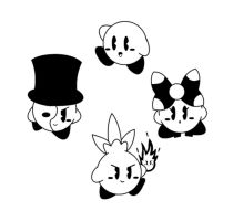 Random Old School Kirbys by The-Super-Brawl-Girl