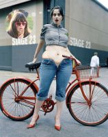 Zooey Deschanel  muffin top by cahabent