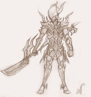 Dragoon sketch 2 by Mailus