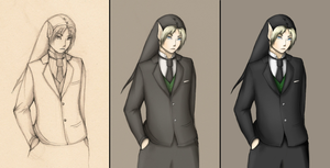 Link in a Suit, 3 versions by M03PS