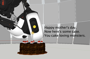 GLaDOS mother's day by Noiporcs