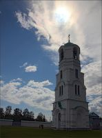 Sun over the belfry by NikolaiMalykh
