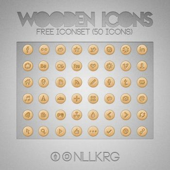 Wooden Icons by NKspace