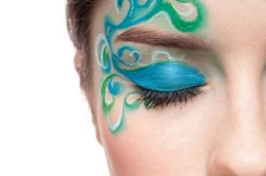 Eye Make up green-blue by AliceimWunderland81