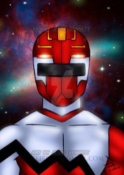 Lost Galaxy Future Red Ranger by blueliberty